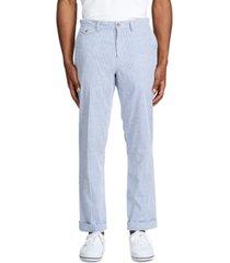 polo ralph lauren men's stretch straight-fit seersucker pants