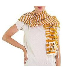 cotton scarf, 'amber roads found' (guatemala)