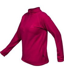 blusa zip thermofleece curtlo feminina