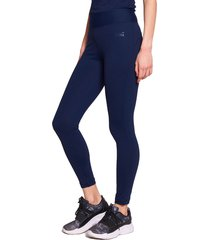 legging everlast long basic azul - calce ajustado