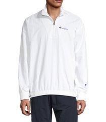 champion men's quarter-zip popover track jacket - white - size xxl