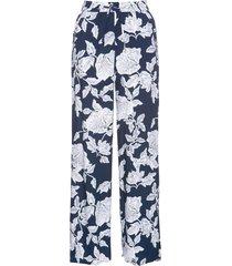 pantaloni a palazzo in viscosa fantasia (blu) - bpc selection