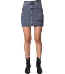helmut lang mini skirt with logo