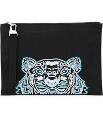 kenzo document holder clutch tiger