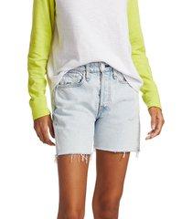 rag & bone women's maya high-rise shorts - nevada blue - size 24 (0)