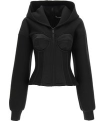 dolce & gabbana bustier sweatshirt with hoodie