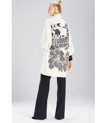 felt wool jacket, women's, white, size xs, josie natori