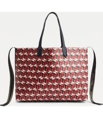 tommy hilfiger women's monogram tote bag and wallet pink mix mono -