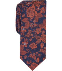 bar iii men's sereno skinny floral tie, created for macy's