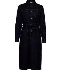 kabrit denim dress knälång klänning blå kaffe
