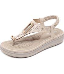 sandalias de mujer con hebilla de metal zapatillas de cuña