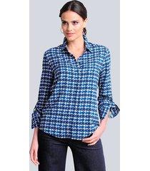 blouse alba moda blauw::marine