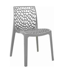 conjunto 04 cadeiras gruv cinza rivatti