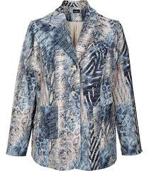 blazer m. collection beige::blauw