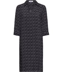 dress woven fabric knälång klänning svart gerry weber edition