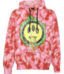 barrow pink tie-dye hoodie