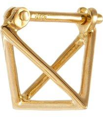 3d' 18k gold triangle single earring
