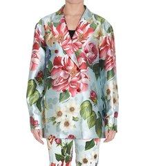 flower printed blazer