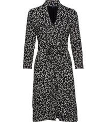 angelina meadow v neck dress knälång klänning svart french connection