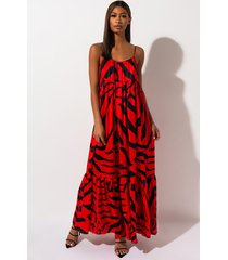 akira tiger eyes printed maxi dress