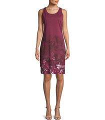 floral-print cotton blend day dress