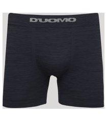cueca masculina duomo boxer sem costura azul escuro