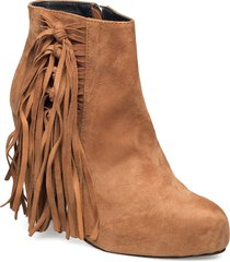 high heeled short boot with fringes shoes boots ankle boots ankle boot - heel brun shoe biz