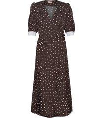 jessie jurk knielengte bruin custommade