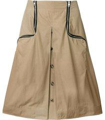 jw anderson cumin two-way zipper skirt - brown