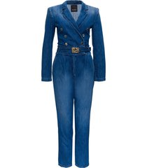 pinko double breasted denim suit