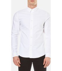 a.p.c. men's chemise button down shirt - blanc - xxl