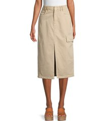 free people women's scout midi skirt - sand - size 27 (4)