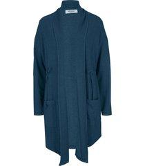 giacca in felpa lunga con coulisse maite kelly (blu) - bpc bonprix collection