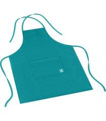 avental electrolux 100% algodão azul