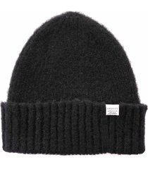 norse projects brushed lambswool beanie |black| n95-0800 blk