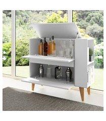 aparador bar multiuso basculante be mobiliário drink branco