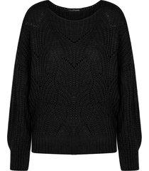 trui met motief zwart