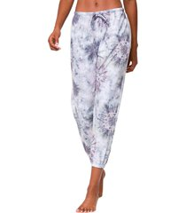 onzie women's fleece sweatpants - cobain tie dye small/medium spandex