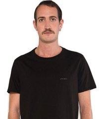 camiseta albedrío regular logo negro