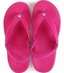 chinelo crocs infantil crocband strap flip - feminino