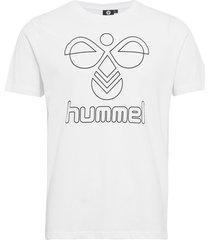 hmlpeter t-shirt s/s t-shirts short-sleeved vit hummel