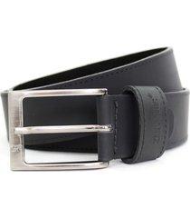 cinturón masculino, color negro, marca san polos. san polos - negro