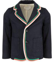 gucci blue boy jacket with double gg