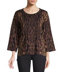 leopard jacquard sweater