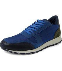 canvas blauman sneakers // royal blue + green
