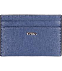 furla babylon leather card holder