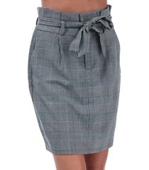 womens eva paperbag check skirt