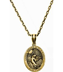 14k gold small sinner necklace