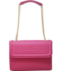 bebe lila flap shoulder bag