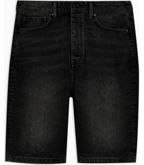 mens blue black skater denim shorts